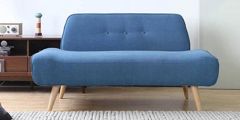 Pedro Two Seater Sofa in Blue Colour by CasaCraft