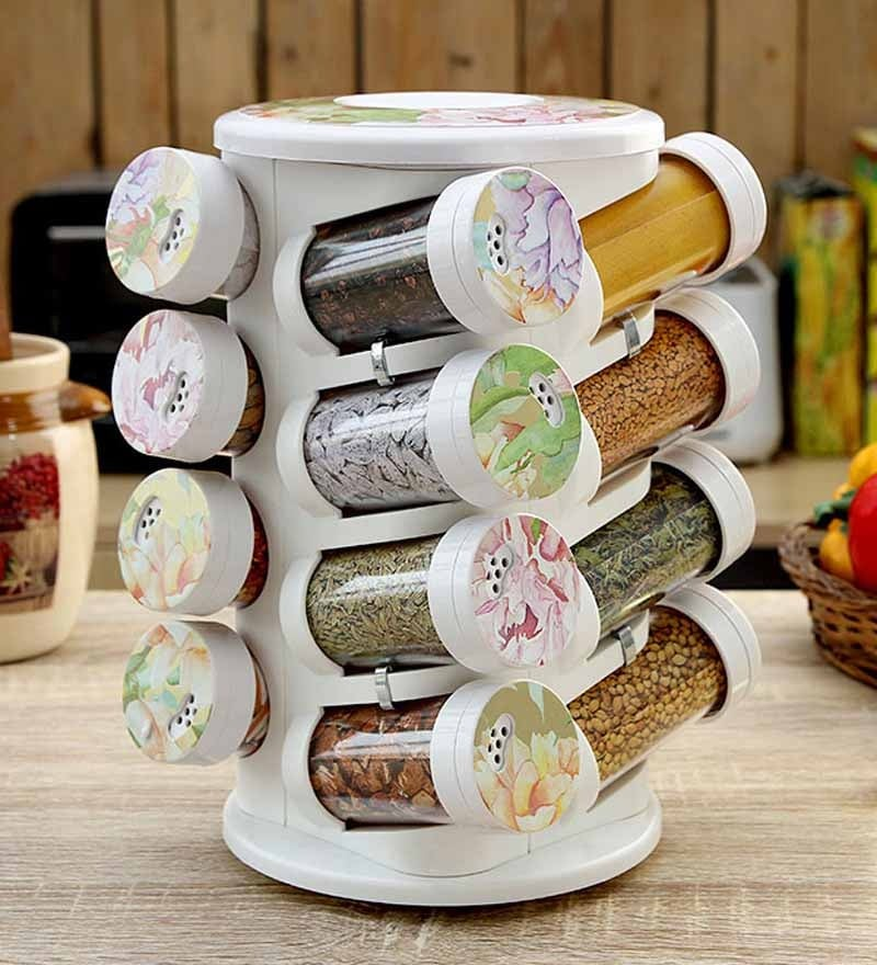 JVS Lavender Gold Majestic 100 ML (Each) Spice Rack - Set of 16