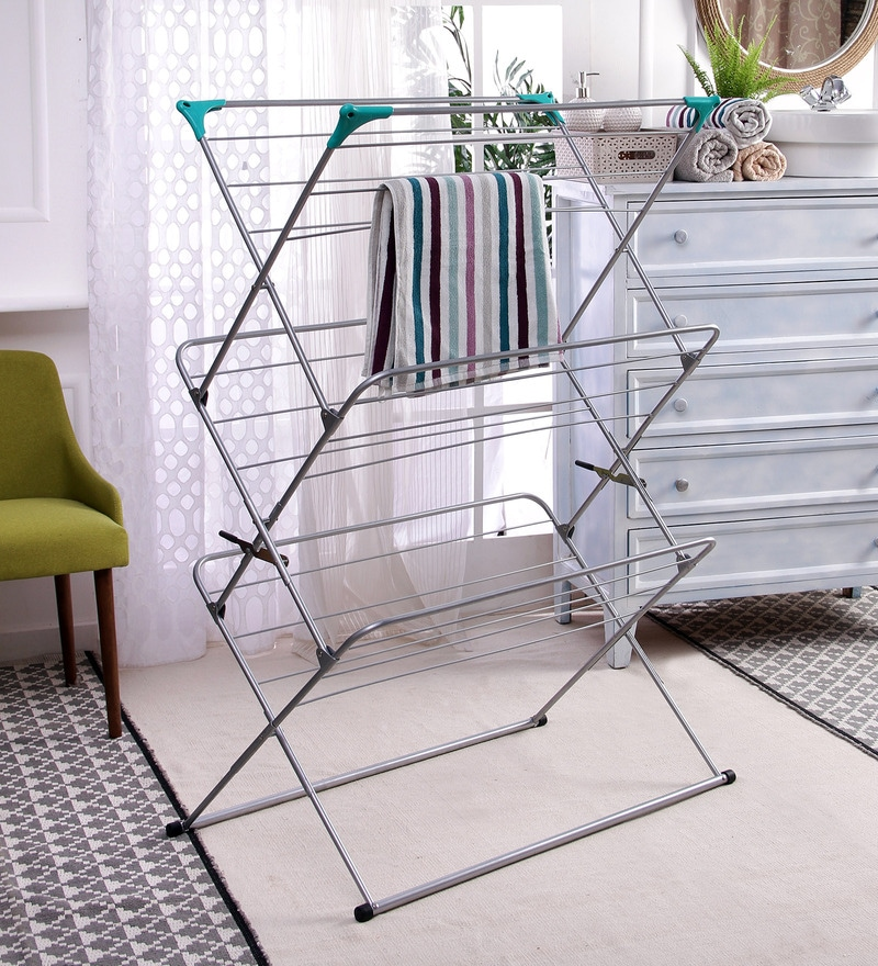 Peng Essentials Steel White & Green Collosal Cloth Drying Stand