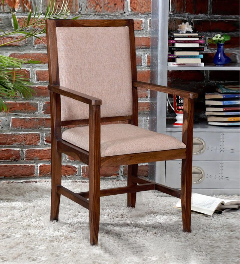 Peshtigo Arm Chair in Provincial Teak Finish by Woodsworth