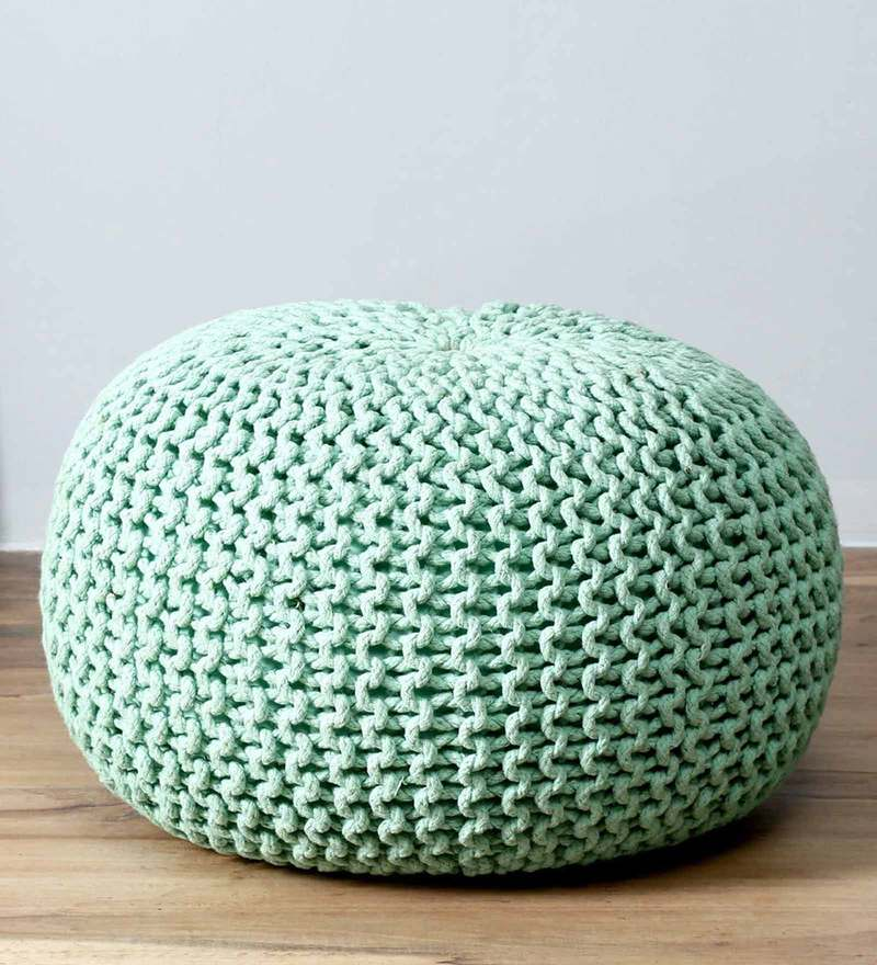 Petula Pouffe in Light Green Color by Bohemiana