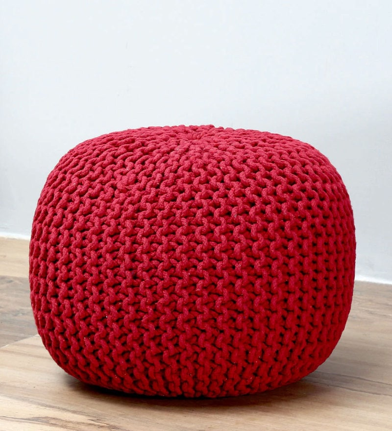 Petula Pouffe in Red Color by Bohemiana