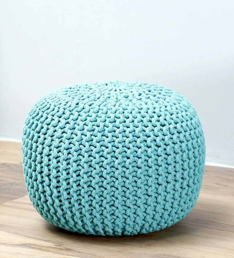 Petula Pouffe in Turquoise Color by Bohemiana
