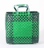 Peacock Life Large Plastic Green Basket