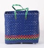 Peacock Life Large Plastic Blue Basket