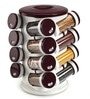 JVS Burgundy 100 ML (Each) Spice Rack - Set of 16
