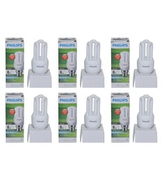 Philips White 8W CFL Light - Set Of 6