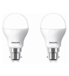 Philips White 9 Watt Round Led Bulb - Pack Of 2