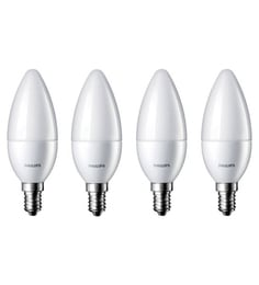 Philips Yellow 2.7 Watt Candle Led Bulb - Pack Of 4