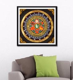 Photographic Paper 24 X 24 Inch Mandala Of Om Mani Padme Hum Framed Digital Art Print