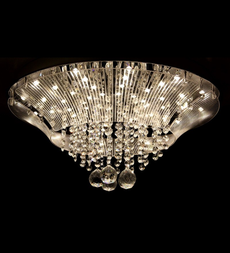 Designer Crystal Ceiling Chandelier Krilyst. 3 Steps Dimmable by Philips