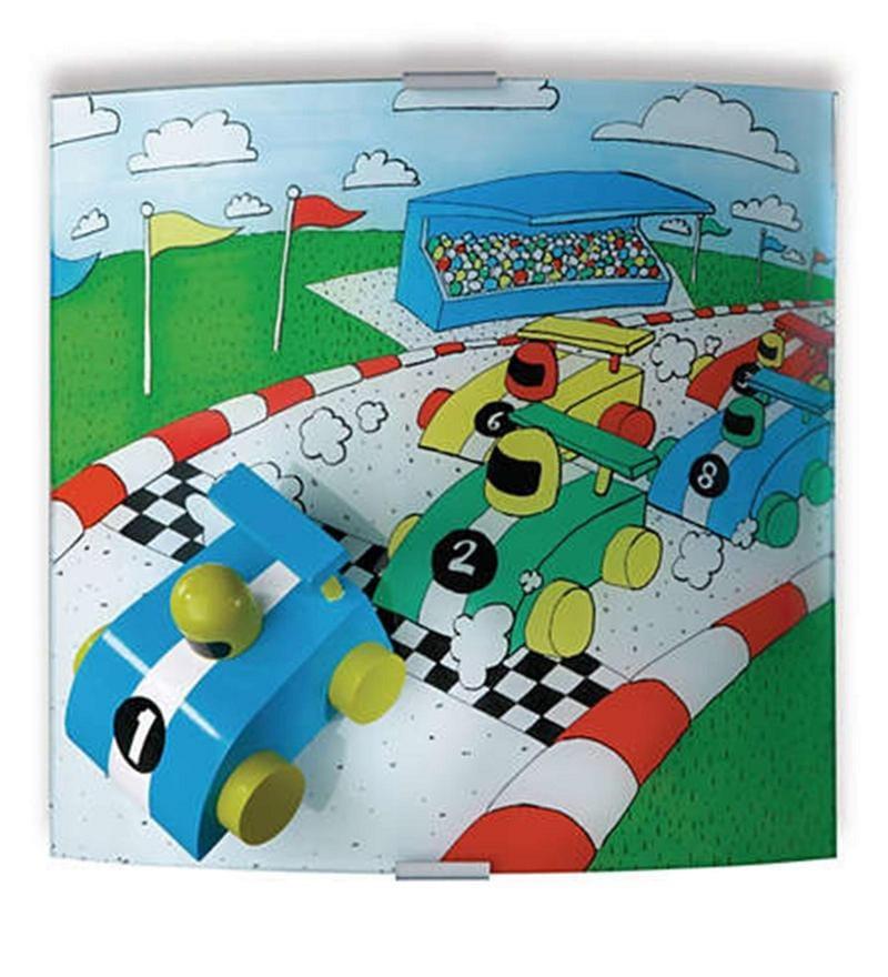 Kidsplace Race Wall Light in Multicolour by Philips