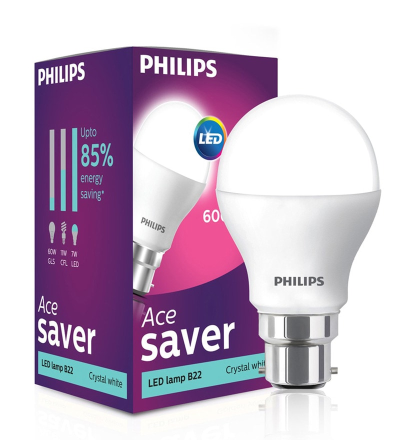 Philips B22 White 7W LED Bulb