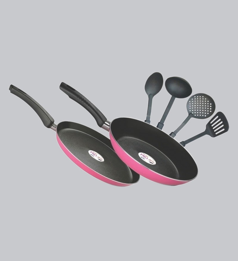434fe8558d Mahavir 5Pc Stainless Steel Cooking Utensils with Copper Bottom by ...
