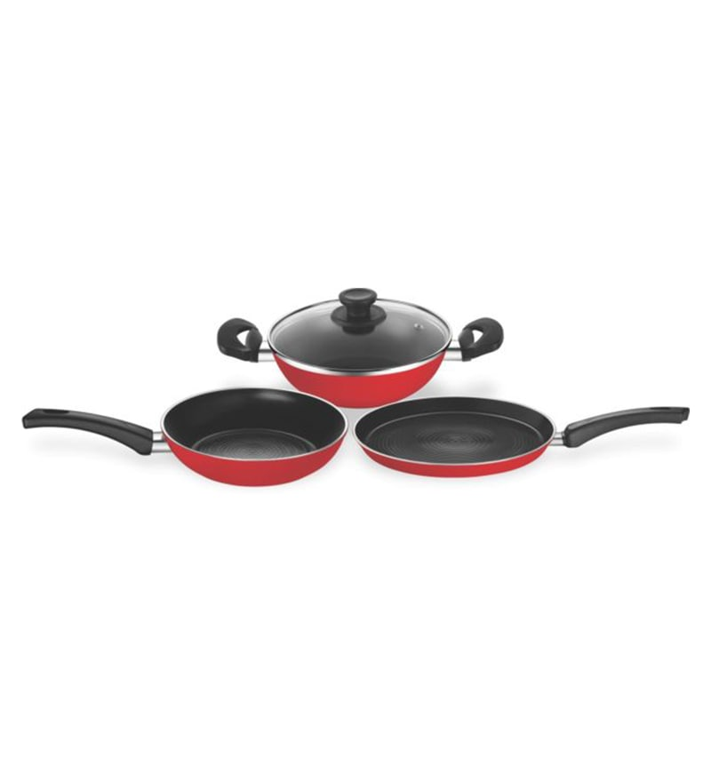 Carlo Aluminium Cookware Set - Set of 3 by Pigeon