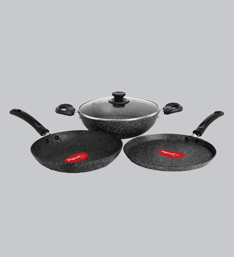 b1dead6d2b3 Buy Non Stick   Induction Based Cookware Combo With Lid - Set of 4 ...