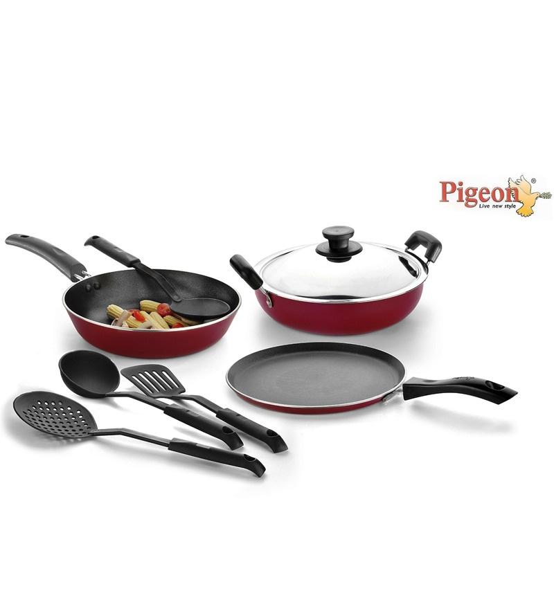 Aluminium 8-Piece Cookware Set by Pigeon