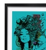 Pickypomp Paper 8 x 12 Inch Beautiful Girl in Blue Framed Wall  Digital Art Print