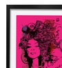 Pickypomp Paper 8 x 12 Inch Beautiful Girl in Pink Framed Wall  Digital Art Print