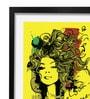 Pickypomp Paper 8 x 12 Inch Beautiful Girl in Yellow Framed Wall  Digital Art Print