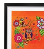 Pickypomp Paper 8 x 12 Inch Cute Owl in Saffron Framed Wall  Digital Art Print