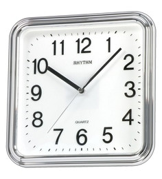 Plastic 9.8 X 1.8 X 9.8 Inch Silver Square Basic Wall Clock