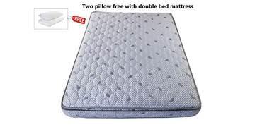 Plush Pillow Top Queen Size 8 Inch Premium Rebonded Foam Reversible Mattress With Pillow Top