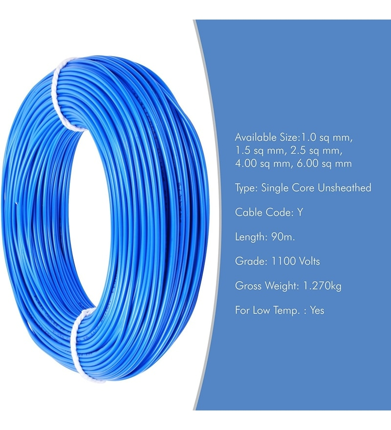Buy Plaza 4.0 Sq. mm PVC & Copper Insulated Electrical Wire Online ...