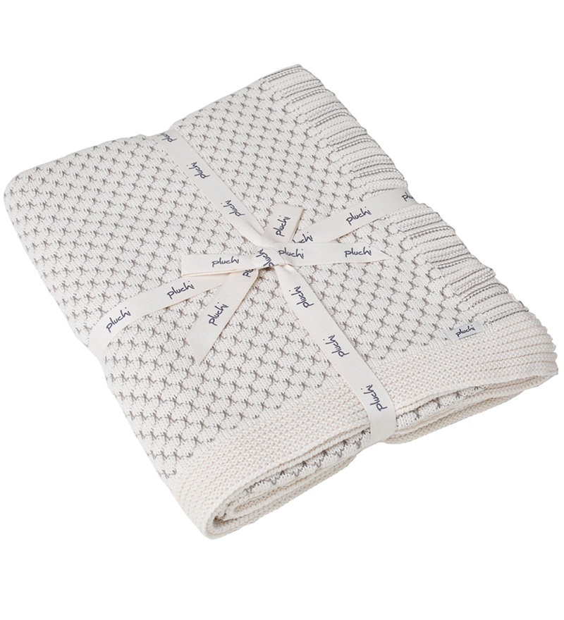 Rapsodia Knitted Single-Size Throw Blanket by Pluchi