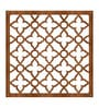 Planet Decor Brown Acrylic with Wooden Lamination Floral Room Divider