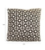 Black & White Cotton 16 x 16 Inch Cuadrados Knitted Cushion Cover by Pluchi