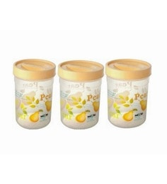 Polypropylene 2 L Round Storage Containers - Set Of 3