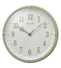 Polyresin 12 X 1.8 X 12 Inch Wall Clock Convex Glass 3D Numerals Silent Silky Move Analog Clock
