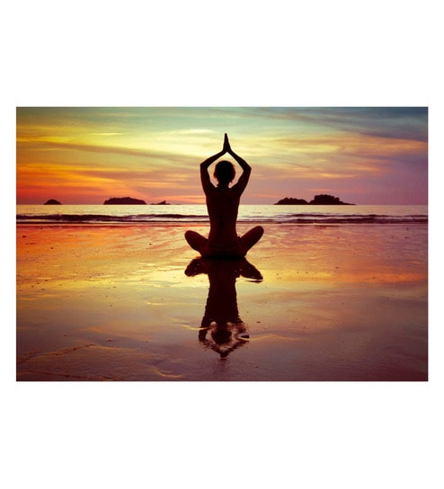 Poster Paper 17 x 11 Inch Yoga Inhale Positivity Framed Poster by Tallenge
