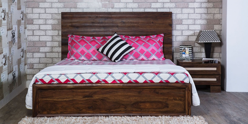 Illinois King Size Bed in Provincial Teak Finish by Woodsworth
