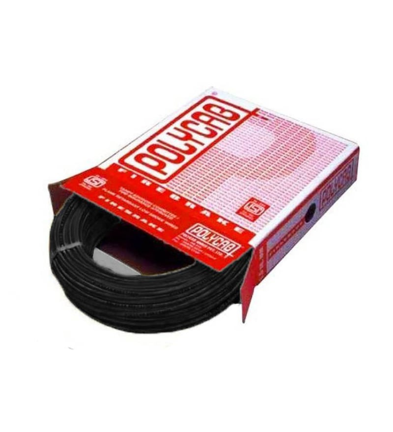 Polycab Industrial Black 10 Sq.mm (90 m) Multistrand Wire