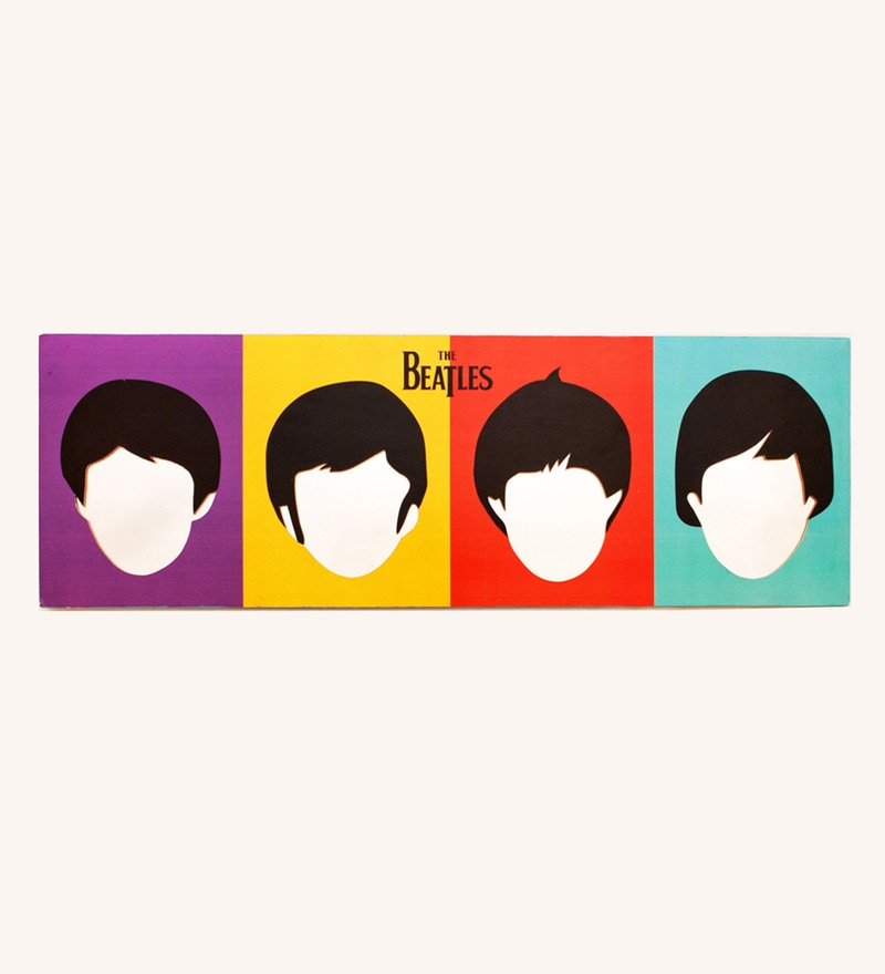 Multicolour Wood The Beatles Mirror Mirror by PoppadumArt