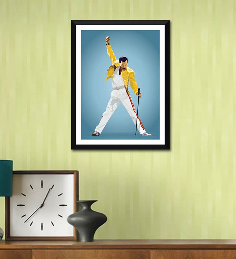 Poster Paper 12 x 17 Inch Music and Musicians Collection Freddie Mercury Graphic Art Framed Poster by Tallenge