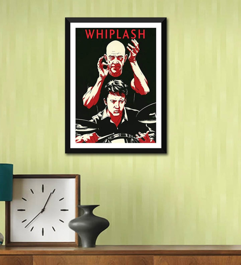 Poster Paper 12 x 17 Inch Retro Art Whiplash Framed Poster by Tallenge