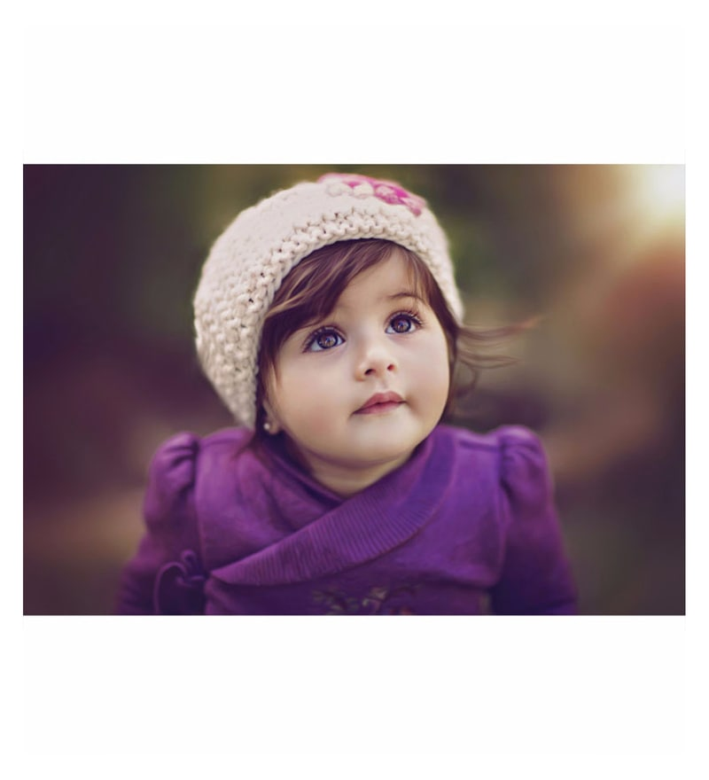 Buy Poster Paper 17 X 12 Inch Cute Baby Girl Framed Poster