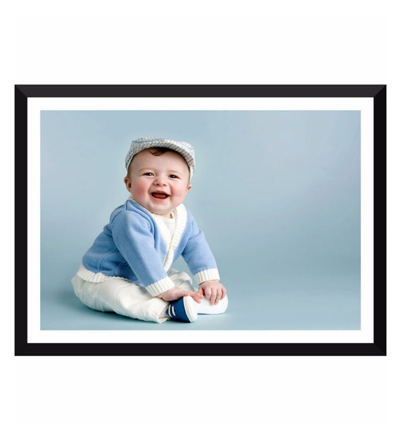 Poster Paper 17 x 12 Inch Handsome Baby Boy Ready For A Party Framed Poster by Tallenge