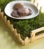 Poppadum Art Central Park Green Wood & Grass Small Tray