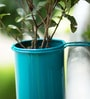Hang on! Balcony Planter in Teal Blue by PoppadumArt