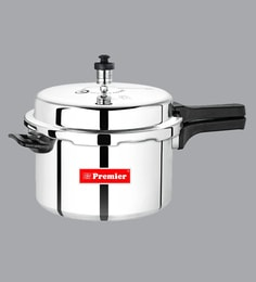 Premier Induction Bottom Classic Aluminium Outer Lid Pressure Cooker 5.5 Ltr