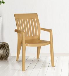 Premium Arm Chair In Metallic Beige Colour