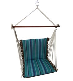 Premium Cushioned Swing Chair in Artic Stripe  sc 1 st  Pepperfry & Swings u0026 Hammocks: Buy Hammocks u0026 Swing Chairs For Home Online at ...