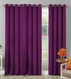 Premium High end Faux Raw Silk Purple Lining Curtain Door Curtain ... & Solid Color Door Curtains - Buy Solid Color Door Curtains Online in ...