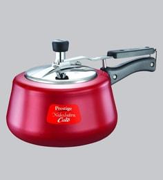 Prestige Nakshatra Aluminium Red Pressure Cooker,2000 ML