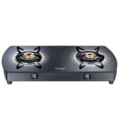 Prestige Premia GTS02 BK 2 Burner Glass Cooktop
