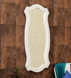 Provencal Abstract Wall Mirror In White Finish - 1679932